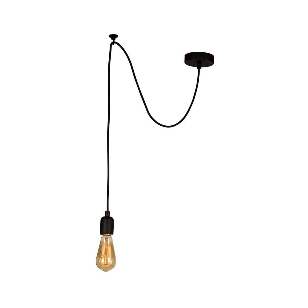 Čierne závesné svietidlo Wire Hanging Lamp Larro