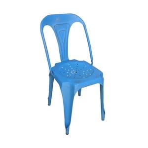 Kovová retro stolička Sofian, modrá
