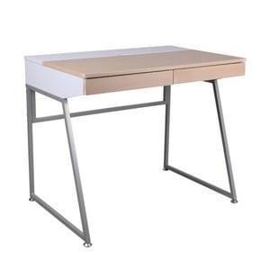 Pracovný stôl B130, biely