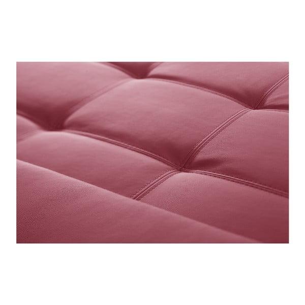 Ružová pohovka Modernist Symbole, pravý roh