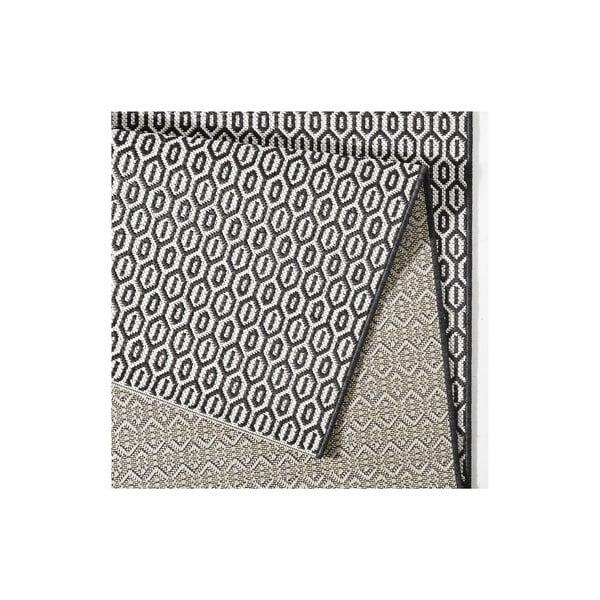 Čierno-biely koberec vhodný aj do exteriéru Hanse Home Meadow, 140x200cm