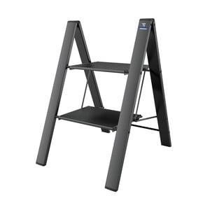 Čierny skladací rebrík Colombo New Scal Leonardo 2