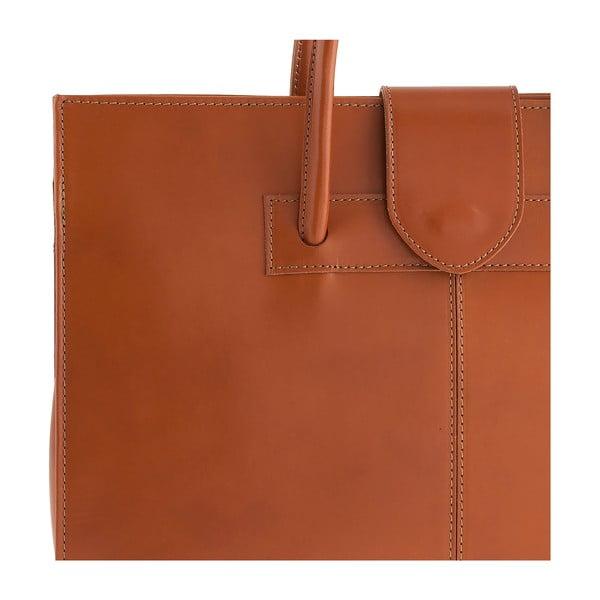 Medovohnedá kožená kabelka Ore Diece Bari