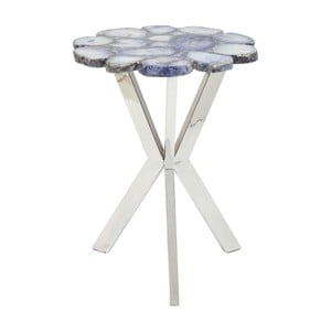 Modrý odkladací stolík Kare Design Trasury, ⌀40cm