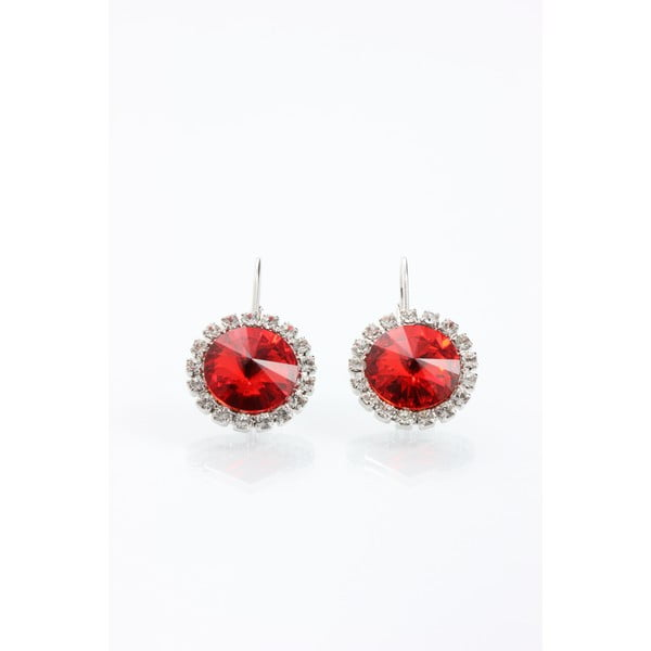 Náušnice Laura Bruni so Swarovski Elements Red, 16 mm