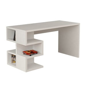 Pracovný stôl Aaron, biely
