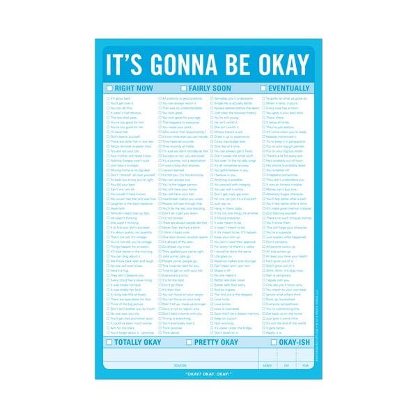 Listy na zapisovanie vzťahov To Be Okay