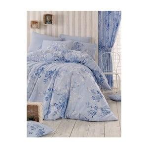 Modré obliečky na dvojlôžko Elena, 200 x 220 cm