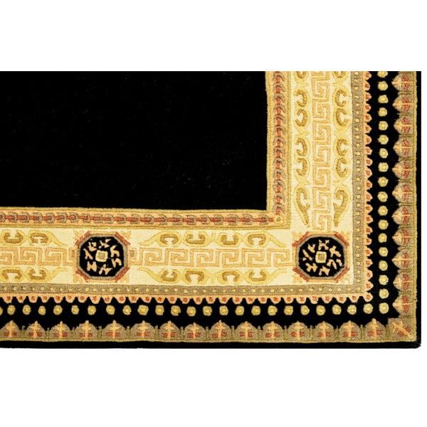 Vlnený koberec Bakero Vanilla/Black, 170x240 cm
