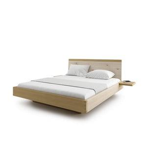 Prírodná dvojlôžková posteľ z masívneho dubového dreva JELÍNEK Amanta, 160 x 200 cm