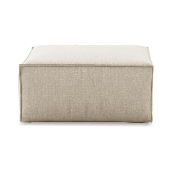 Béžový puf Cosmopolitan Design Miami, 65×65 cm