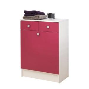 Ružová kúpeľňová skrinka na kôš na bielizeň Symbiosis André, šírka 60cm