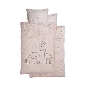 Ružové detské obliečky Done by Deer Dreamy Dots, 70×100 cm