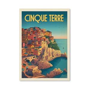 Plagát Americanflat Cinque Terre, 42 x 30 cm