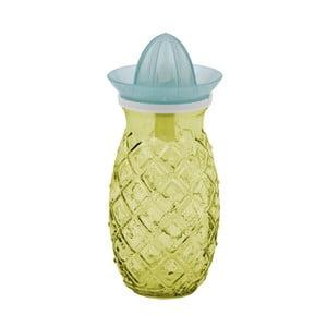 Žltý pohár s odšťavovačom z recyklovaného skla Ego Dekor Ananas, 0,7 l