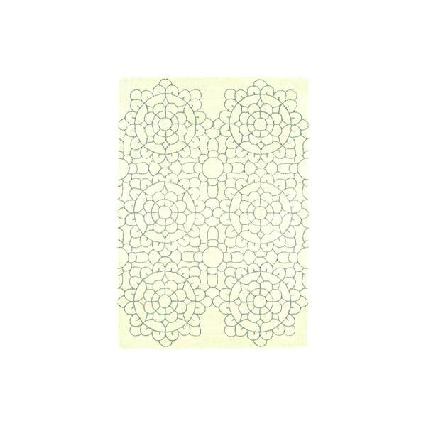 Vlnený koberec Matrix Crochet Cream, 160x230 cm