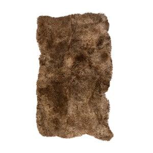 Hnedý kožušinový koberec s krátkým vlasom Darte, 170 x 110 cm