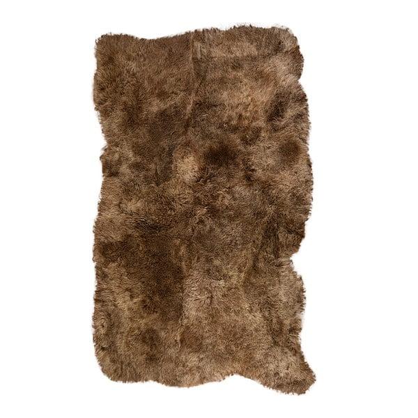 Hnedý kožušinový koberec s krátkým vlasom Darte, 120x180cm