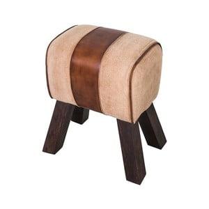 Stolička s poťahom z kože Antic Line Darcons