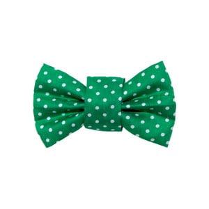 Zelený charitatívny psí motýlik s bodkami Funky Dog Bow Ties, veľ. S