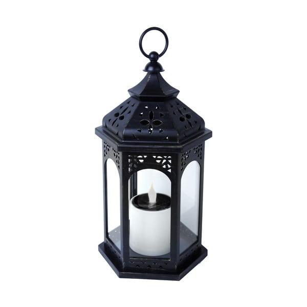 LED solárny lampáš Warm 36 cm, čierny