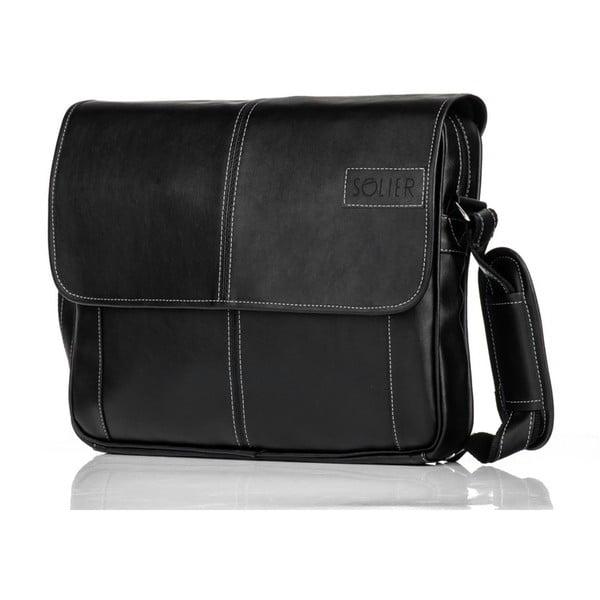 Pánska taška Solier S15, čierna