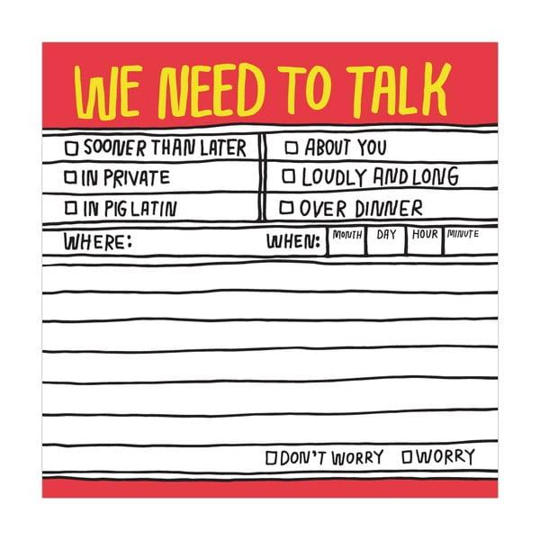 Lepiace papieriky We Need To Talk