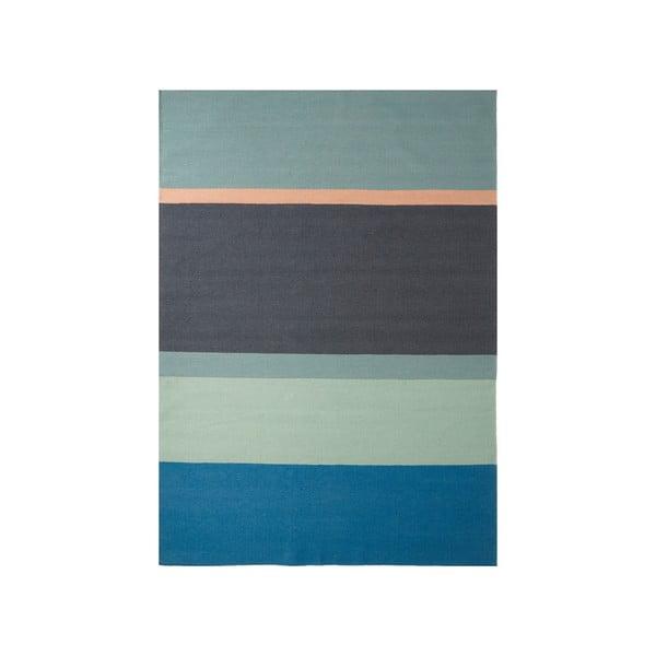 Vlnený koberec Lux Blue, 80x150cm