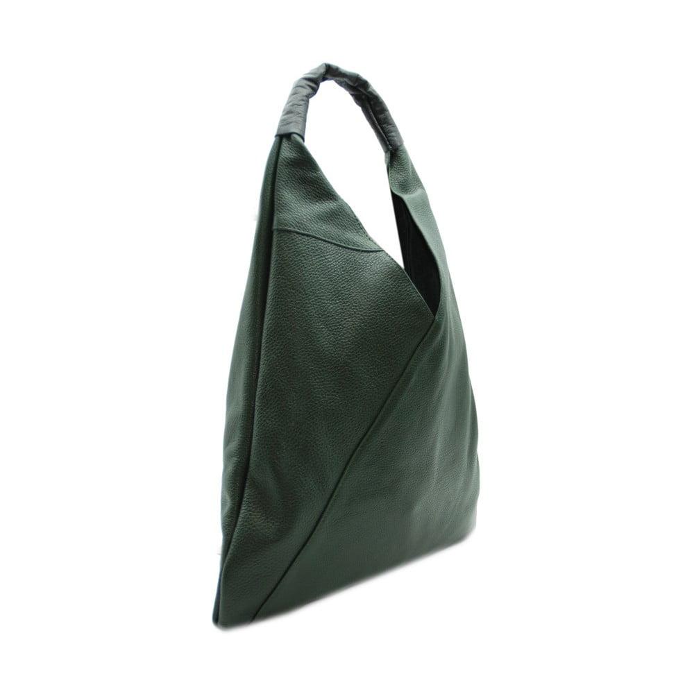 Tmavozelená kabelka z pravej kože Andrea Cardone Karma  467497a8764