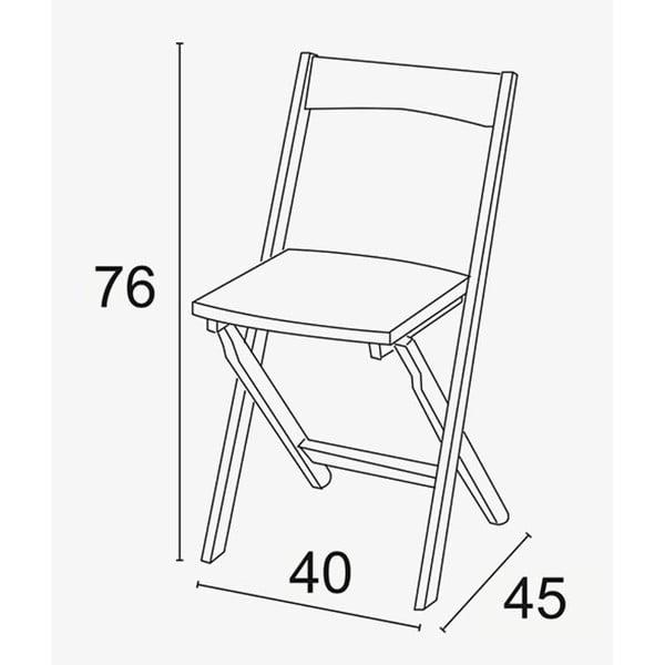Biela skladacia stolička z bukového dreva Arredamenti Italia Diana
