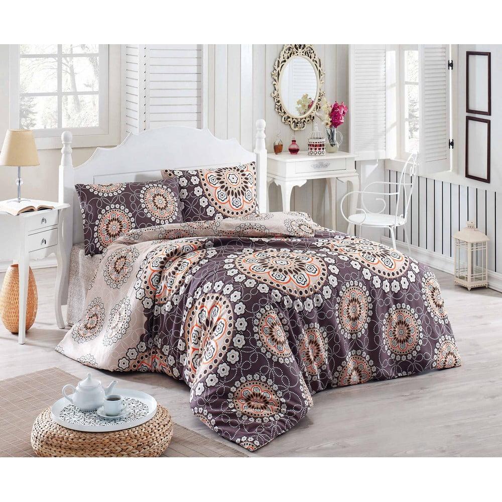 Prikrývka cez posteľ na dvojlôžko s obliečkami na vankúše Libras, 200 × 220 cm