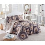 Prikrývka cez posteľ na dvojlôžko s obliečkami na vankúše Libra, 200 x 220 cm
