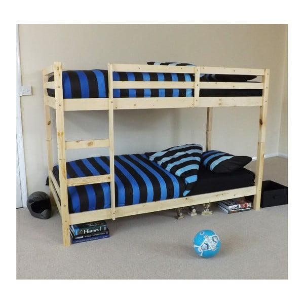 Drevená dvojposchodová posteľ Pine Bunk, 198x97x142 cm