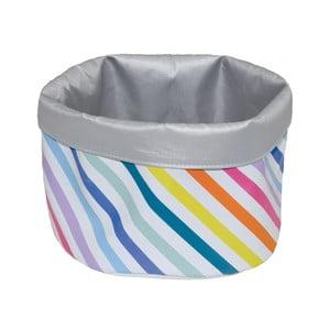 Úložný košík Incidence Technicolor Stripes, výška 17 cm