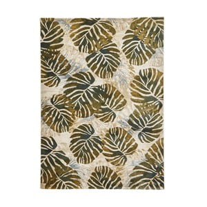 Krémovo-zelený koberec Think Rugs Tropics Cream & Green, 160×220 cm