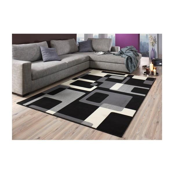 Čierny koberec Hanse Home Hamla Retro, 120x170 cm