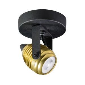 Nástenné/stropné svietidlo v čiernej a zlatej farbe ETH Wasp Uno