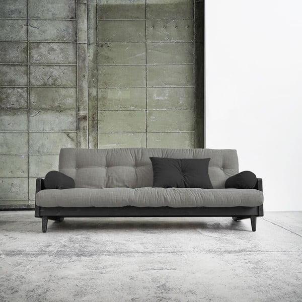 Rozkladacia pohovka Karup Indie Black/Granite Grey/Dark Grey
