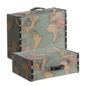 Sada 2 kufrov Cosas de Casa Mapa sveta