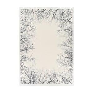 Biely obojstranný koberec Narma Pulse White, 200 x 300 cm