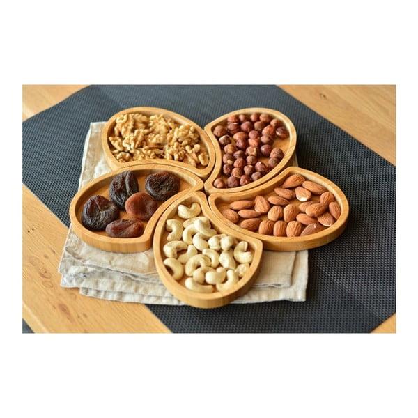 Sada 5 servírovacích misiek Bambum Puzzle Snack