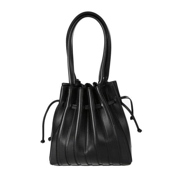 Čierna kabelka z eko kože Beverly Hills Polo Club Hannah