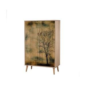 Drevená skriňa Ananias Tree, výška 127 cm