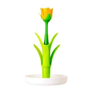 Zelený odkvapkávač na poháre Vigar Flower Power