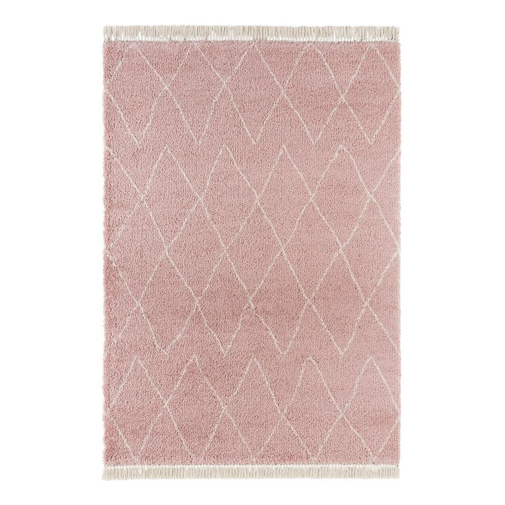 Ružový koberec Mint Rugs Galluya, 80 x 150 cm