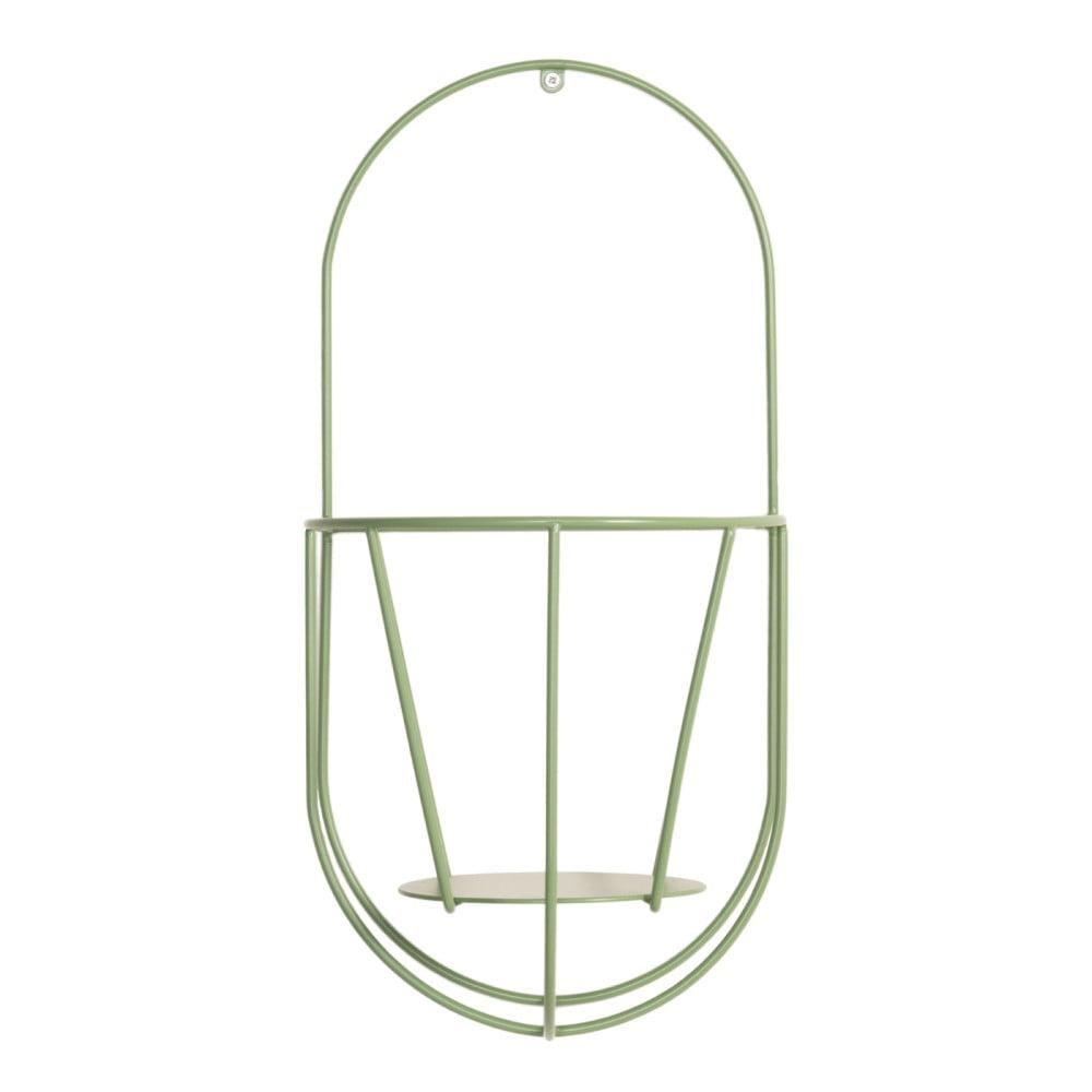 Zelený nástenný držiak na kvetináče OK Design, výška 46 cm