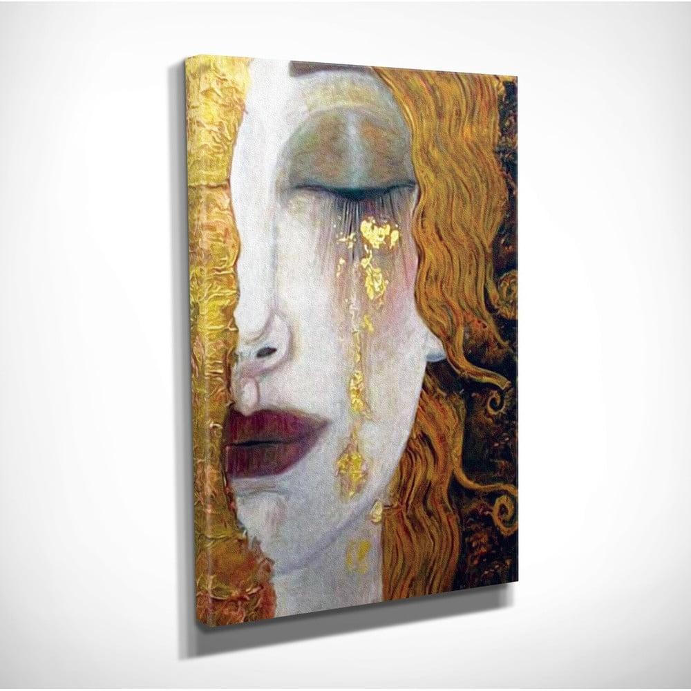 Iveta Sunshaded nástenná reprodukcia na plátne gustav klimt golden tears, 30 × 40 cm |  bonami