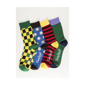 Sada 4 párov unisex ponožiek Funky Steps Martial, veľkosť 39/45