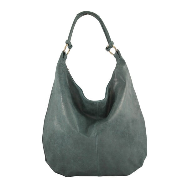 Petrolejovomodrá kožená kabelka Francesca