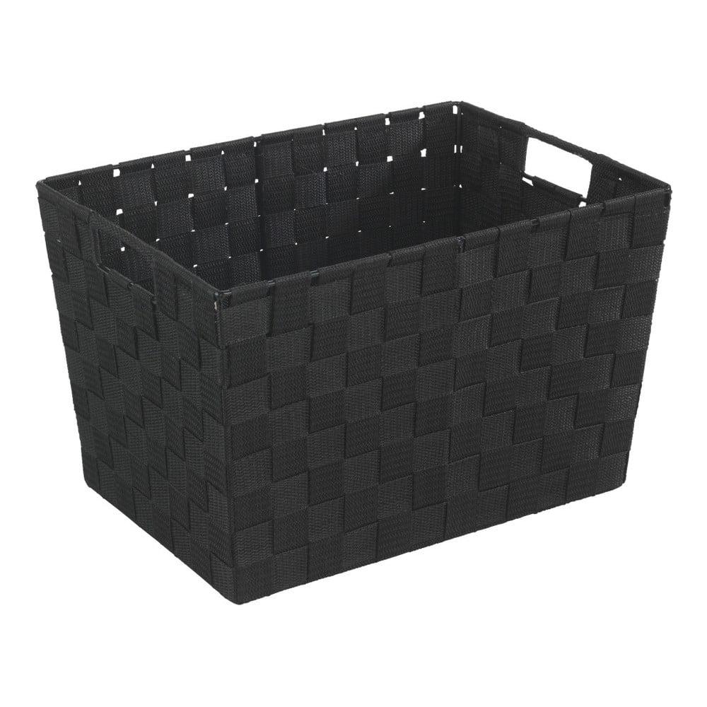 Čierny košík Wenko Adria, 25,5×35 cm Volá vaša <b>kúpeľňa</b> po poriadku?  Vďaka týmto farebným <b>košíkom</b> zorganizujete svoju kúpeľňu raz-dva a každý šampón, hrebeň či krém budú mať svoje miesta.